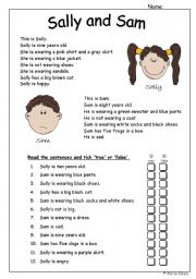 Reading comprehension with emphasis on clothes. - ESL ...