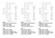 English Worksheet: Colour Crossword 2