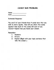 English Worksheets: Candy Problem