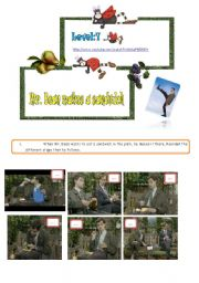 English Worksheets: Mr. Bean makes a sandwich ( part 1)