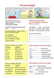 English Worksheets: Grammar - Present Simple