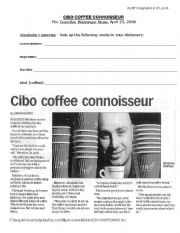 English Worksheet: Coffee Business