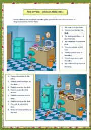 English Worksheet: THE OFFICE - (ERROR ANALYSIS) (09.08.08)