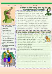 English Worksheet: LISTENING-COMPREHENSION.
