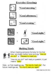 English Worksheets: Everyday greetings