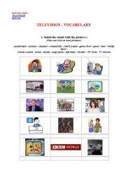 English Worksheets: television