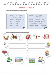 English Worksheets: Collocations2