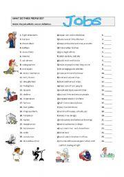 jobs - matching exercise - ESL worksheet by fjfh