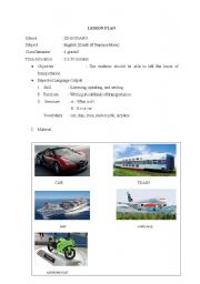 English Worksheets: mean of transportation