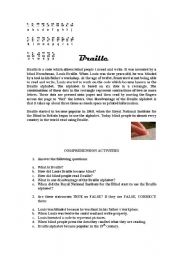 English Worksheets: Braille