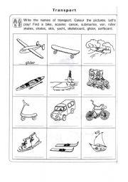 English Worksheets: trasport