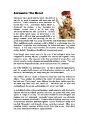 English worksheet: Alexander The Great