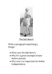English Worksheets: The Salt March