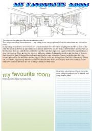 English Worksheets: my favourite room