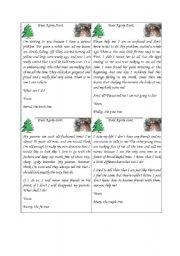 English Worksheet: Dear Agony Aunt