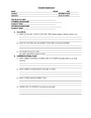 English Worksheets: Student Dream Sheet