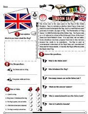 English Worksheet: RC Series_British Edition_04 Union Jack (Fully Editable + Key)