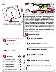 English Worksheets:  RC Series_British Edition_03 London Eye (Fully Editable + Key)