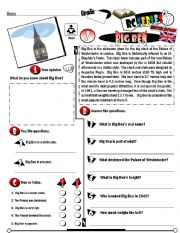 English Worksheet: RC Series_British Edition_02 Big Ben (Fully Editable + Key)