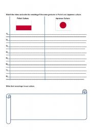 English Worksheet: body language and gestures