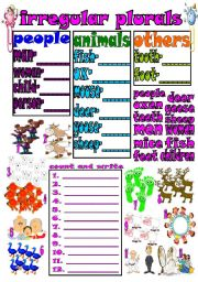 English Worksheets: irregular plurals