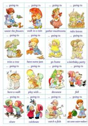 English Worksheet: Speaking Cards - Going to