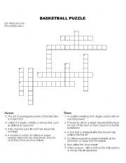 Printables Basketball Worksheets english teaching worksheets basketball puzzle