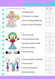 English Worksheets: Check the Pic