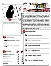 English Worksheets: RC Series_British Edition_05 Sherlock Holmes (Fully Editable + Key)