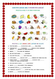 Food Countable or Uncountable http://www.eslprintables.com/grammar_worksheets/nouns/countable_and_uncountable_nouns/Countable_or_Uncountable_Food_607353/