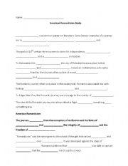 English Worksheets: American Romanticism Guide