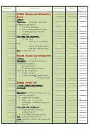 English Worksheets: cahier de text