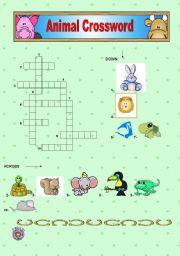 English Worksheets: Worksheet n� 1 - Animals