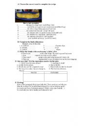 English worksheet: food, cooking and eating habits /quantifiers