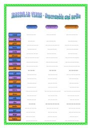 English Worksheet: Irregular verbs: Unscramble and write
