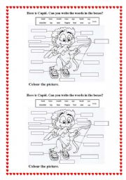 English Worksheets: Cupid. Parts of body.
