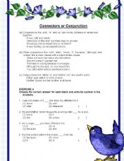 English Worksheets: Connectors or Conjunctions