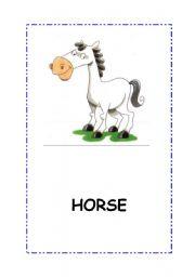 English Worksheets: Animals.Flashcards. 7 flascards. 12 flashcards