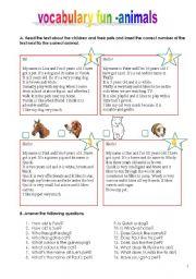 vocabulary fun - animals (15.01.12)