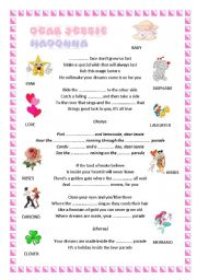 English Worksheets: Dear Jessie-Madonna ( a lullaby)