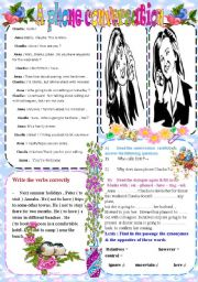 English Worksheet: A phone conversation