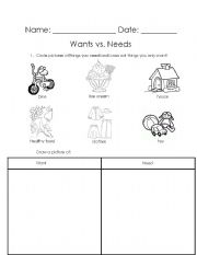 Worksheet Needs And Wants Worksheets english worksheets wants vs needs worksheet needs