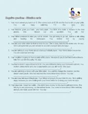 English Worksheet: negative questions situation cards