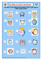 English Worksheet: Alarm Clocks Museum
