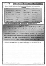 English Worksheets: Writing Worksheet (2)