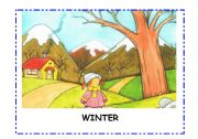 English Worksheets: 4 seasons flashcards. Spring, summer, Autumn, Winter