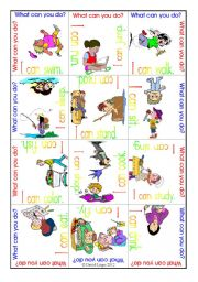 English Worksheet: Word Puzzle 1: I can, includes 2 puzzles and backs