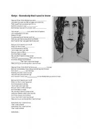 English Worksheets: Gotye - Somebody I used to know