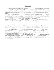 English worksheet: Cloze test