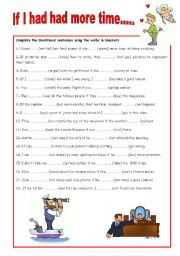 English Worksheet: CONDITIONAL SENTENCES: THIRD TYPE